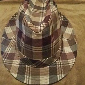 Roots Plaid Fedora Hat